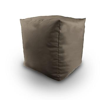 Grey Water Resistant Bean Filled Cube Pouffe Footstool