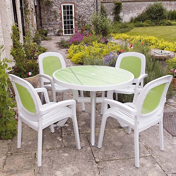 Nardi White Lime Toscana 100 Beta Patio Set - 4 Seats