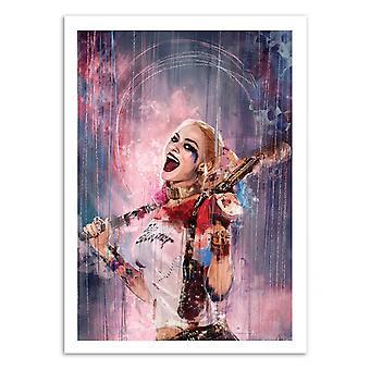 Konst-affisch-Harley Quinn-Wisesnail 50 x 70 cm