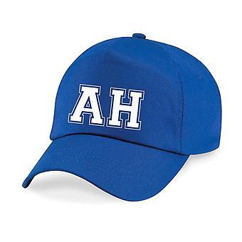 Adult Personalised College Initials Name Baseball Cap