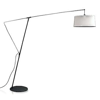 Mantra M4968 Nordica Floor Lamp E27 With Black Shade, Black/Polished Chrome