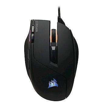Corsair sabel RGB mus gaming USB standard optisk 8 taster 10 000 dpi farge svart