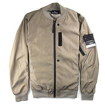 Stone Island Lenticular Jacquard Jacket Black/Gold Khaki