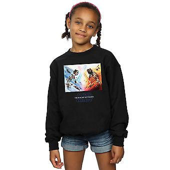 Star Wars The Rise Of Skywalker Battle Poster Girls Sweatshirt