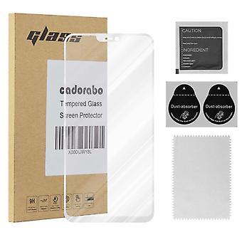 Cadorabo fuld skærm tank film for vivo v9-hærdet skærm beskyttende glas i 9H hårdhed med 3D touch kompatibilitet