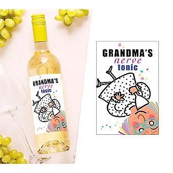 Grandma's Nerve Tonic Wine Bottle Label