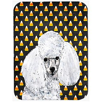 White Toy Poodle Candy Corn Halloween Mouse Pad, Hot Pad or Trivet SC9653MP