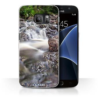 STUFF4 Case/Cover for Samsung Galaxy S7/G930/Rocky Stream/Waterfalls