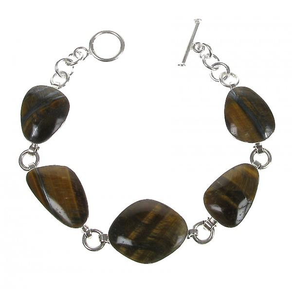 Cavendish French Sterling Silver and Tiger's Eye Small Abstract Bracelet