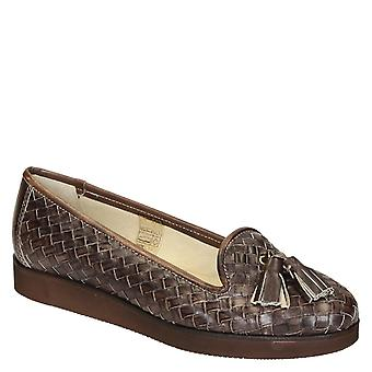 Women's penny loafers in woven leather handmade