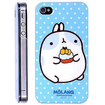 Dekke kanin spise Molang i hard plast, for iPhone 4/4s