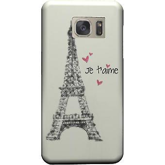 Paris Je Taime Abdeckung für Galaxy S7
