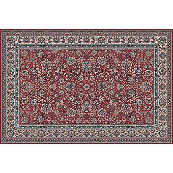 Royal Red 1561-507 sol rouge avec la frontière ivoire Runner Tapis Tapis traditionnel