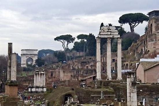 Ruins of a building Rohomme Forum Rome Lazio  Poster Print by Panoramic Images (36 x 24)