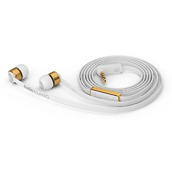 Sudio Sound In-Ear Headphones-White With Gold Metal
