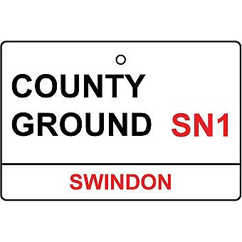 Swindon / County Ground Street Sign Car Air Freshener