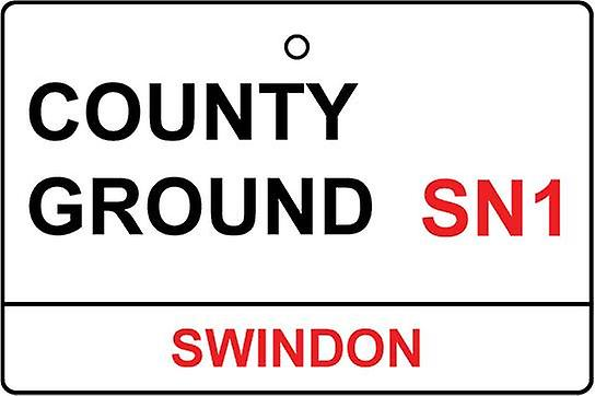 Swindon / County Ground Street Sign auto luchtverfrisser