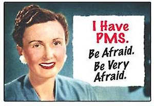 I have PMS, be afraid   funny fridge magnet (ep)
