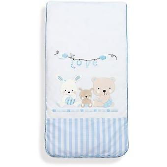 Interbaby gecoördineerd 3 stukken Bag Model Love Blue (kind, textiel, beddengoed)