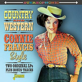Country & Western Connie Francis Style - Two Original LPs Plus Bonus Tracks by Connie Francis