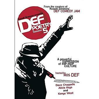 Russell Simmons præsenterer Def poesi: Sæson 5 [DVD] USA import