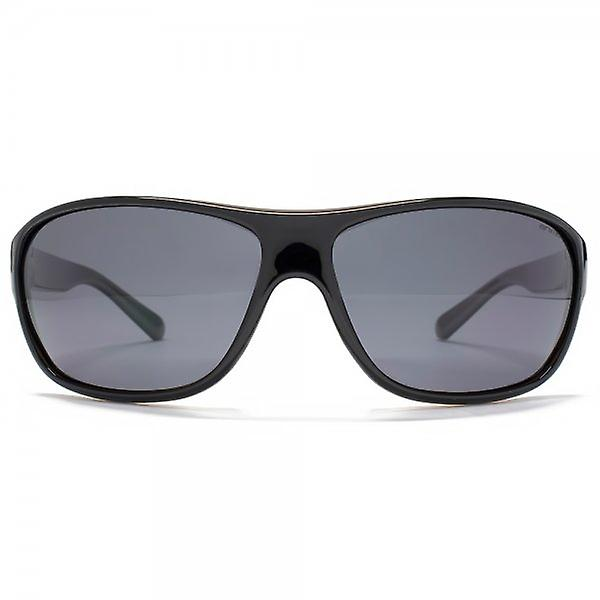 Animal Rodeo Plastic Wrap Sunglasses In Black On Crystal Brown