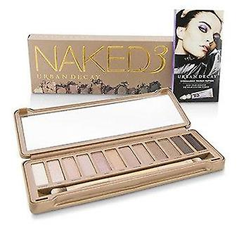 Urban Decay Naked 3 Eyeshadow Palette: 12x Eyeshadow 1x Doubled Ended Shadow/Blending Brush - -