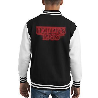 Hawkins 1983 fremde Dinge Kid Varsity Jacket