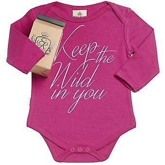 Spoilt Rotten Keep Wild In You Organic Babygrow In Gift Milk Carton