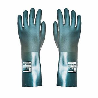 Portwest - Cat 3 Chemical Protection Gauntlet Gloves 35cm Pack Of 12 pair