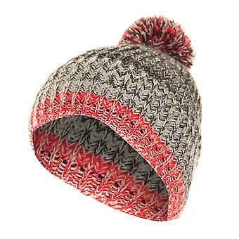 FLOSO Mens / Womens Unisex Two-Tone Winter Bobble Beanie Hat