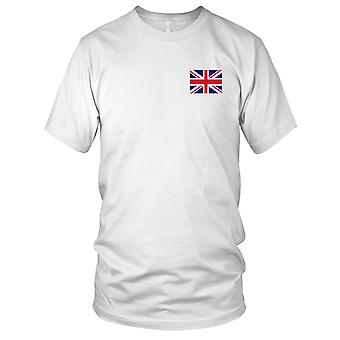 Great Britain UK British Country National Flag - Embroidered Logo - 100% Cotton T-Shirt Ladies T Shirt