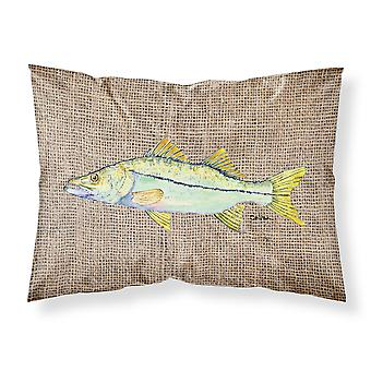Tesoros de Carolines 8772PILLOWCASE peces - róbalo humedad wicking tela standar