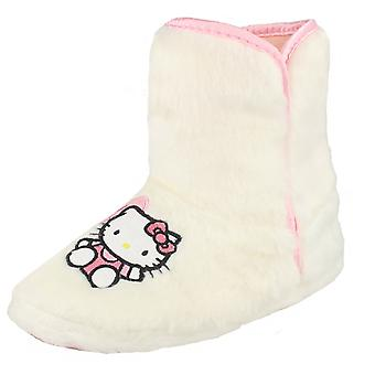 Flickor Hello Kitty fluffiga Bootie toffel