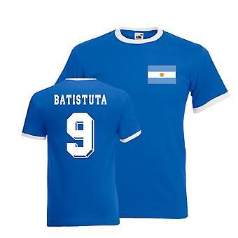 Gabriel Batistuta Argentina Ringer utslagsplats (blått)