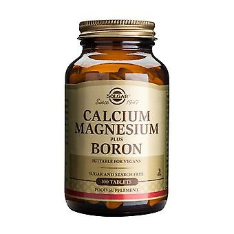 Solgar Calcium Magnesium plus Boron Tablets, 100