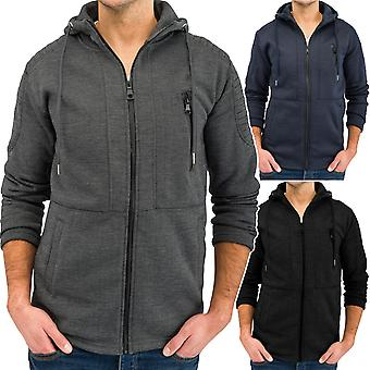Men's jacket with hood STAMFORD hooded sweatshirt Zip Hoodie jacket (3 colors)