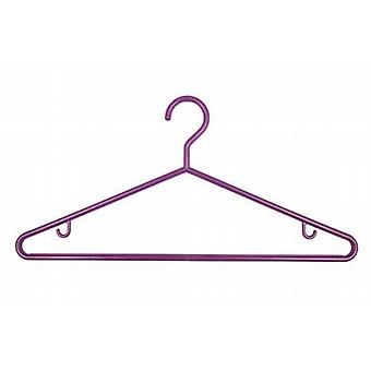 1 x 3 Purple Plastic Hangers from Caraselle