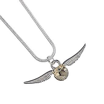 Harry Potter Necklace Golden Snitch Quidditch new Official Silver plated