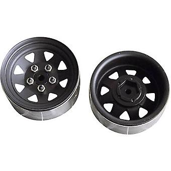 Amewi Crawler Rims 8-spoke Black