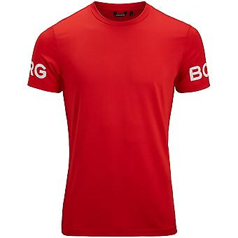 Björn Borg Hydro Pro Active T-Shirt, Chinese Red