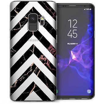 Samsung Galaxy S9 Marmor Pfeile TPU Gel Case - Pink