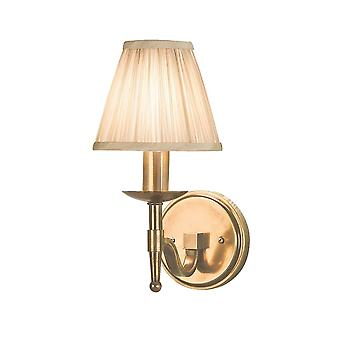 Interiors 1900 63653 Stanford Single Light Wall Fitting In Antique Bra