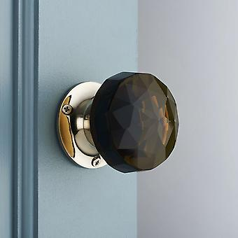Smoked Glass Mortice Door Knobs