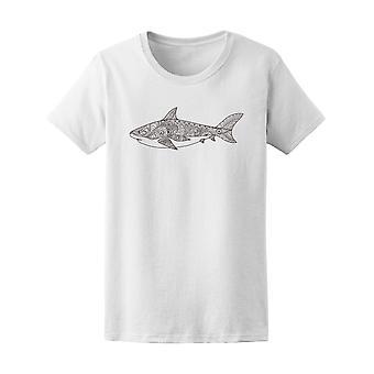 Shark Line Art  Tee Women's -Image by Shutterstock