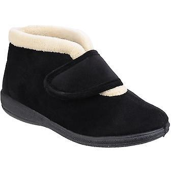 Fleet & Foster Womens/Ladies Levitt Memory Foam Warm Bootie Slippers