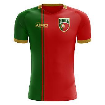 2018-2019 Portugal Flag Home Concept Football Shirt (Kids)
