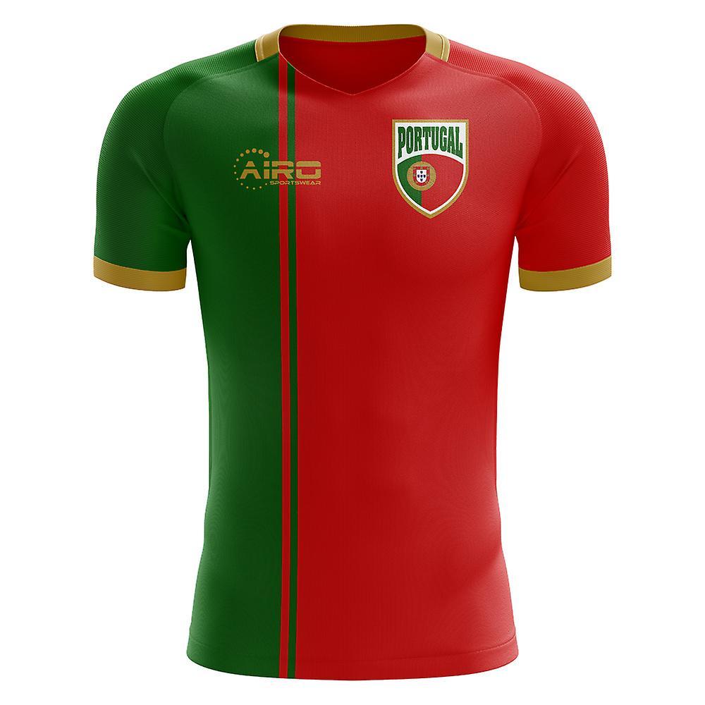 2018-2019 Portugal drapeau Accueil Concept maillot de foot (Kids)