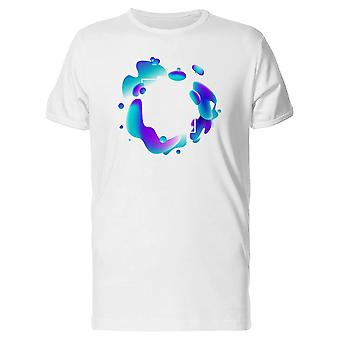 Blue And Purple Paint Blots Tee Men's -Image by Shutterstock