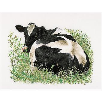 Cow (Back) On Aida Counted Cross Stitch Kit-23.5
